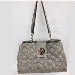 Kate Spade Handbag Elena Astor Court Gray shoulder